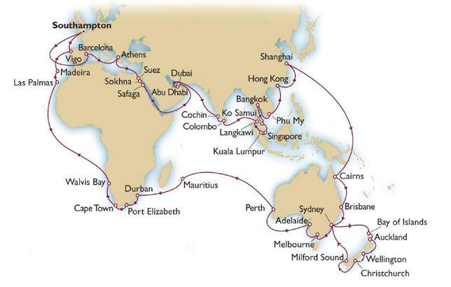 Cunard Queen Mary 2 World Cruise 2013 part 7